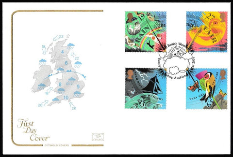 Great Britain First Day Cover, 'Weather', Cotswold, The British Weather, Sunnyside, Bishop Auckland, 13-Mar-2001