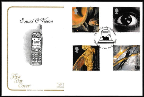 Great Britain First Day Cover, 'Sound and Vision', Cotswold, The World's Leading Bellfounders, Loughborough, Leics, 05-Dec-2000
