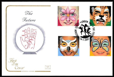 Great Britain First Day Cover, 'Hopes for the Future', Cotswold, The Future, Freedom Street, London, SW11, 16-Jan-2001