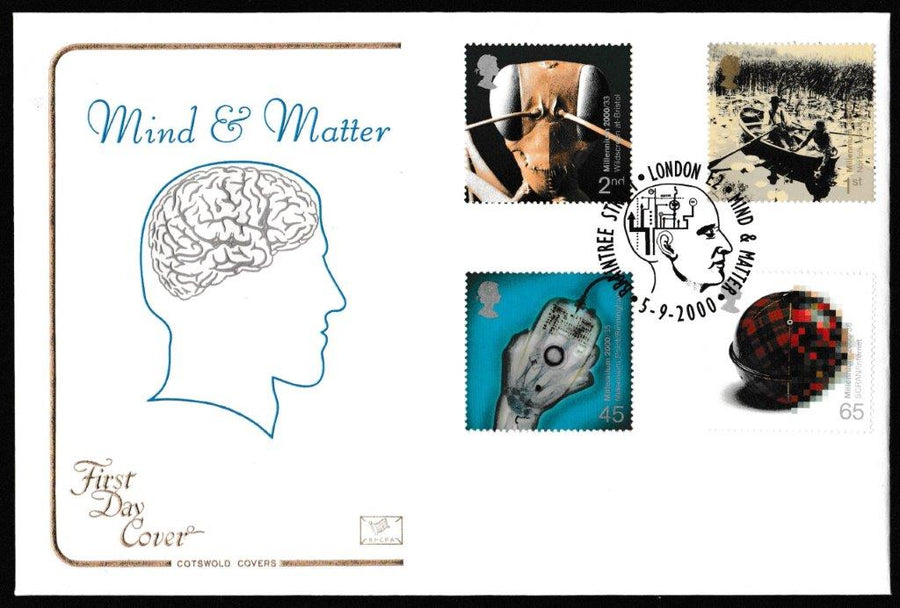 Great Britain First Day Cover, 'Mind and Matter', Cotswold, Braintree Street, London, E2, 05-Sep-2000