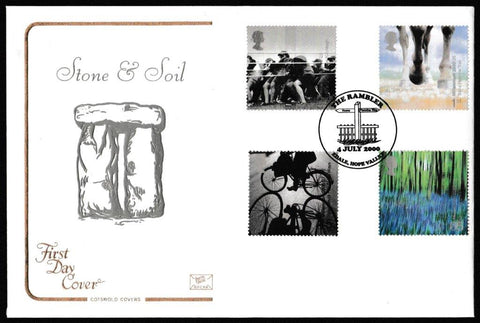 Great Britain First Day Cover, 'Stone and Soil', Cotswold, The Rambler, Edale, Hope Valley, 04-Jul-2000