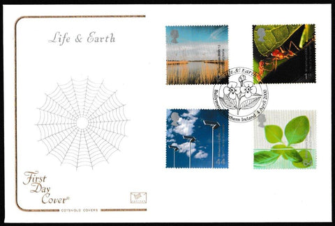Great Britain First Day Cover, 'Life and Earth', Cotswold, Ballymena, Northern Ireland, 04-Apr-2000