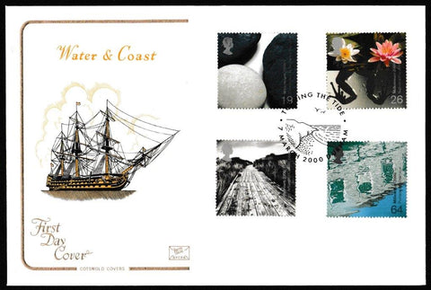 Great Britain First Day Cover, 'Water and Coast', Cotswold, Turning the Tide, 07-Mar-2000