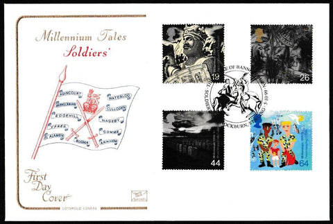 Great Britain First Day Cover, 'Soldiers Tale', Cotswold, The Battle of Bannockburn, Bannocknurn, Stirling, 05-Oct-1999