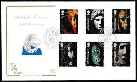 Great Britain First Day Cover, 'The British Museum 1753-2003', Cotswold, Worlds Oldest Public National Museum, Great Russell Street, London, WC1, 07-Oct-2003
