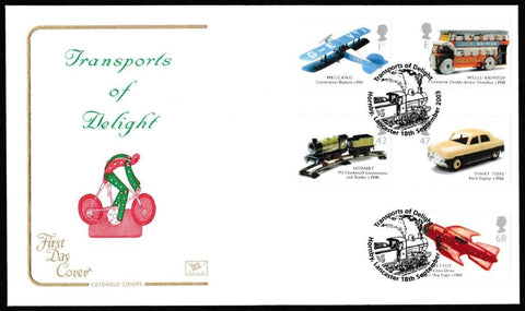 Great Britain First Day Cover, 'Transports of Delight', Cotswold, Transports of Delight, Hornby, Lancaster, 18-Sep-2003