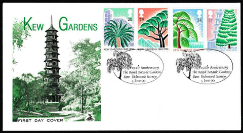 Great Britain First Day Cover, '150th Anniversary Kew Gardens', Mercury, Royal Botanic Gardens, Kew, Richmond, Surrey, 05-Jun-1980