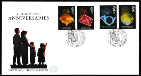 Great Britain First Day Cover, 'Anniversaries', Royal Mail, Strasbourg - Leicesters Twin City, Leics, 11-Apr-1989