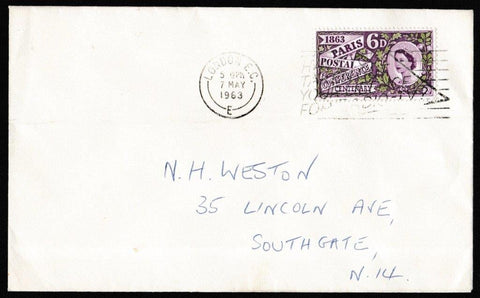 Great Britain First Day Cover, 'Paris Postal Conference Centenary', Plain, London, EC, 07-May-1963