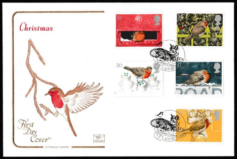 Great Britain First Day Cover, 'Christmas 1995', Cotswold, Christmas Common, Oxford, 30-Oct-1995