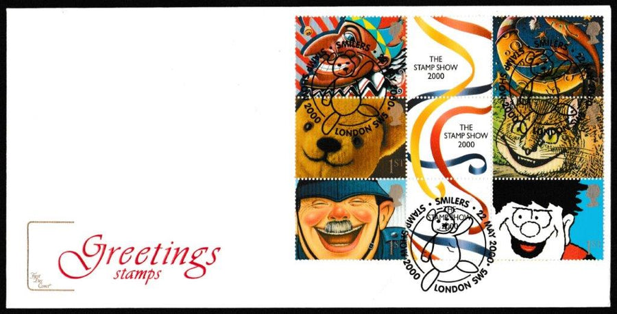Great Britain First Day Cover, 'Stamp Show 2000 Exhibition Souvenir', Cotswold, Stamp Show 2000, London, SW5, 22-May-2000