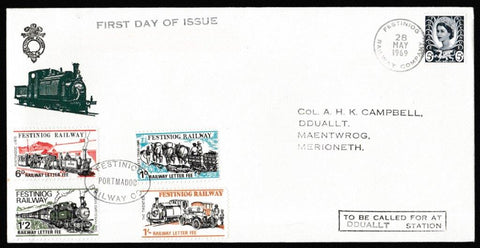 Great Britain Commemorative Cover, 'Festiniog Railway Company', Festiniog Railway, Festiniog Railway Company, 28-May-1969