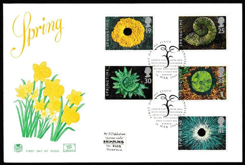 Great Britain First Day Cover, 'Springtime', Cotswold, Springfield, 14-Mar-1995