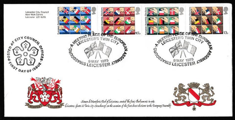 Great Britain First Day Cover, 'Direct Elections to the European Assembly', Official, Leicester, 09-May-1979