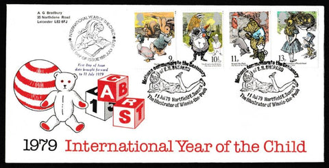 Great Britain First Day Cover, 'International Year of the Child', Official, Centenary of E.H. Shepherd, Hartfield, E. Sussex, 11-Jul-1979