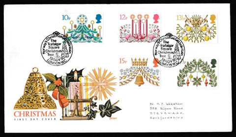 Great Britain First Day Cover, 'Christmas 1980', Philart, Norway Christmas gift to Britain, London WC, 19-Nov-1980