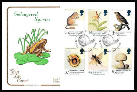 Great Britain First Day Cover, 'Endangered Species', Cotswold, Selborne Alton, 20-Jan-1998