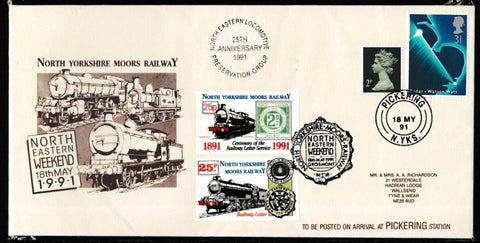 Great Britain Commemorative Cover, 'NYMR North Eastern Weekend 1991', NYMR, Pickering, N. Yks, 18-May-1991