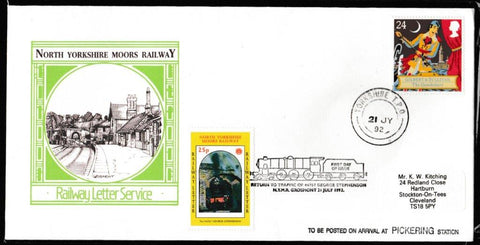 Great Britain First Day Cover, '150th Anniversary Sir Arthur Sullivan', NYMR, Yorkshire TPO, 21-Jul-1992