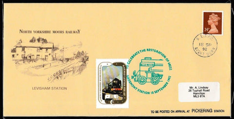 Great Britain Commemorative Cover, 'NYMR Restoration of 60532', NYMR, NE TPO Night Down, 18-Sep-1992