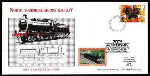 Great Britain First Day Cover, 'NYMR Autumn Season', NYMR, York, 14-Sep-1993