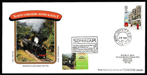 Great Britain Commemorative Cover, 'NYMR Railway Letter Seminar', NYMR, North East TPO Night Up, 24-Mar-1995