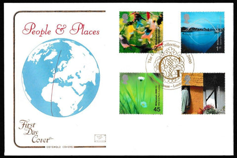 Great Britain First Day Cover, 'People and Place', Cotswold, The Gilbert Collection, Somerset House, 06-Jun-2000