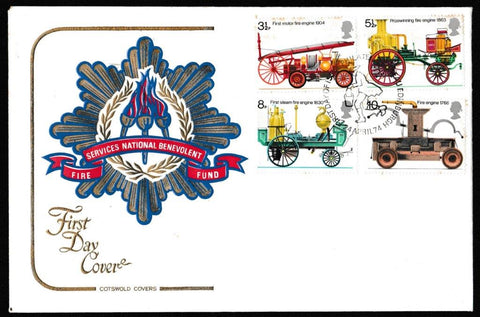 Great Britain First Day Cover, '200th Anniversary First Fire Engine Legislation', Cotswold, Philatelic Bureau, Edinburgh, 24-Apr-1974