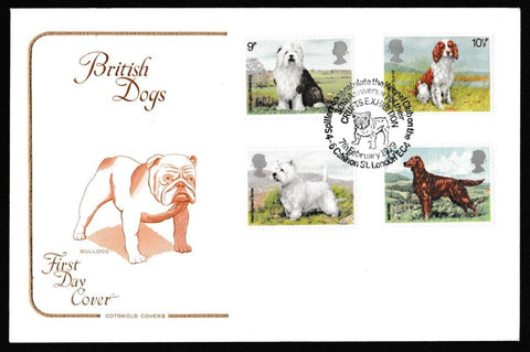 Great Britain First Day Cover, 'British Dogs', Cotswold, Spillers Congratulate Kennel Club, London EC4, 07-Feb-1979