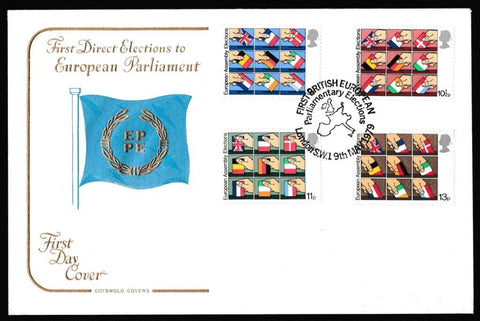 Great Britain First Day Cover, 'Direct Elections to the European Assembly', Cotswold, First British Parliamentary Elections, London, SW1, 09-May-1979