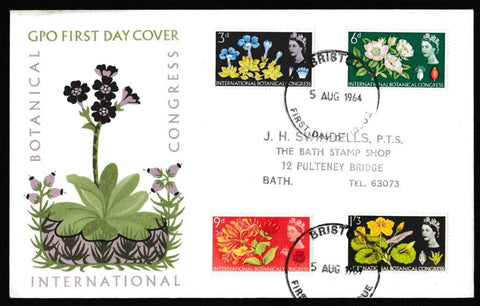 Great Britain First Day Cover, '10th International Botanical Congress - Edinburgh', Royal Mail, Bristol, 05-Aug-1964