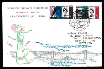 Great Britain First Day Cover, 'Opening of the Forth Road Bridge', PTS/BPA, South Queensferry, South Lothian, 04-Sep-1964