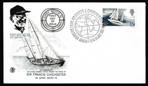 Great Britain First Day Cover, 'Sir Francis Chichester's World Voyage', Stuart, Greenwich, 24-Jul-1967