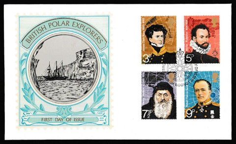 Great Britain First Day Cover, 'British Polar Explorers', Thames Gold Embossed, London, WC, 16-Feb-1972