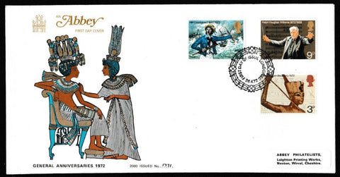 Great Britain First Day Cover, 'General Anniversaries', Abbey, London, EC, 26-Apr-1972