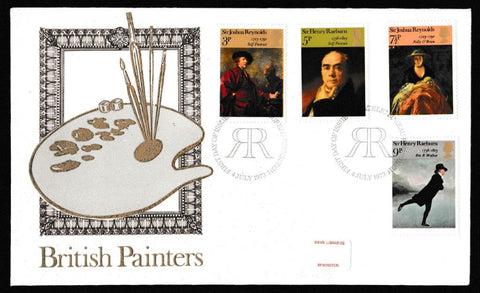 Great Britain First Day Cover, 'British Paintings', Thames Gold Embossed, Philatelic Bureau, Edinburgh, 04-Jul-1973