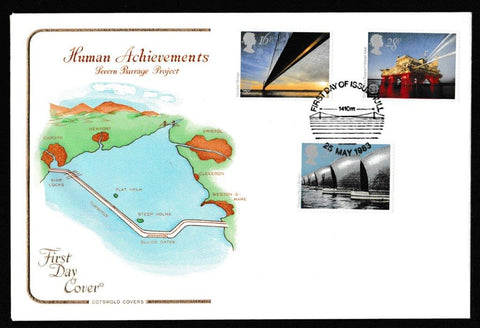 Great Britain First Day Cover, 'Engineering Achievements', Cotswold, Hull, 25-May-1983