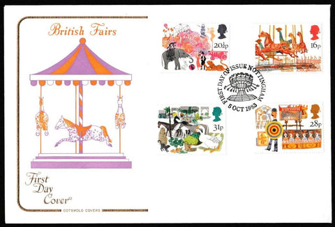 Great Britain First Day Cover, 'British Fairs', Cotswold, Nottingham, 05-Oct-1983