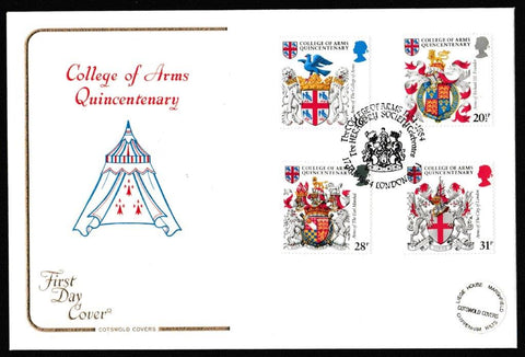 Great Britain First Day Cover, 'Heraldry - College of Arms Quincentenary', Cotswold, College of Arms Quincentenary, London, EC4, 17-Jan-1984