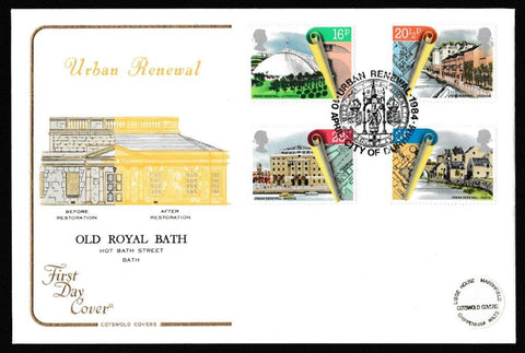 Great Britain First Day Cover, 'Urban Renewal', Cotswold, Urban Renewal, City of Durham, 10-Apr-1984