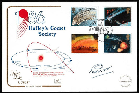 Great Britain First Day Cover, 'Halley's Comet (Signed by Holly Perritt)', Cotswold, Halley's Comet Society, London, 18-Feb-1986