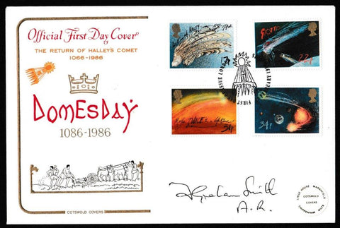 Great Britain First Day Cover, 'Halley's Comet (Signed by Sir Graham Smith)', Cotswold, London, SE10, 18-Feb-1986
