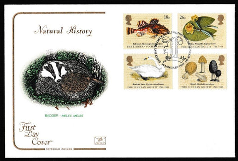Great Britain First Day Cover, 'Bicentenary of the Linean Society', Cotswold, Burlington House, 19-Jan-1988