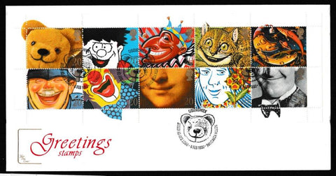 Great Britain First Day Cover, 'Greetings Stamps. 2nd Series', Cotswold, Giggleswick, North Yorkshire, 06-Feb-1990