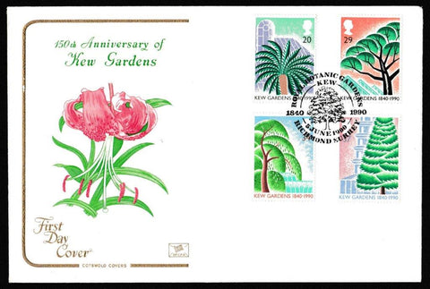 Great Britain First Day Cover, '150th Anniversary Kew Gardens', Cotswold, Royal Botanic Gardens, Kew, Richmond, Surrey, 05-Jun-1980