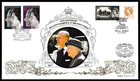 Great Britain Commemorative Cover, 'HM Queen Elizabth II & HRH Prince Philip 65 Years (Benham 100)', Benham, Elizabeth & Philip, Windsor, 20-Nov-2012