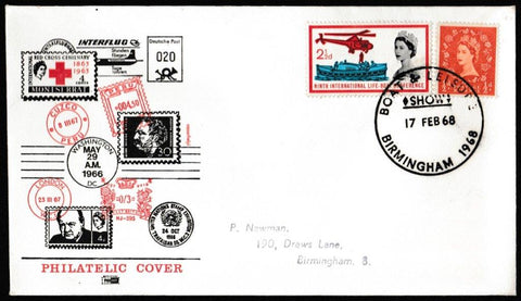 Great Britain Commemorative Cover, 'Commemorative Postmark - Boat & Leisure Show Birmingham 1968', Philart, Birmingham, 17-Feb-1968