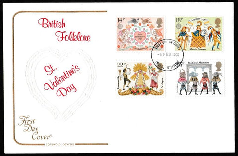 Great Britain First Day Cover, 'Folklore', Cotswold, Hull, 06-Feb-1981