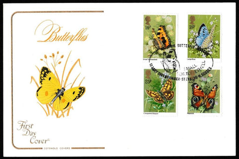 Great Britain First Day Cover, 'British Butterflies', Cotswold, Margaret Fontaine Exhibition, Norwich, 13-May-1981
