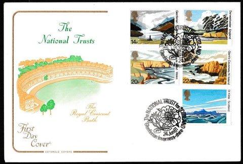 Great Britain First Day Cover, 'The National Trusts', Cotswold, National Trust for Scotland, Glenfinnan, Inverness-Shire, 24-Jun-1981